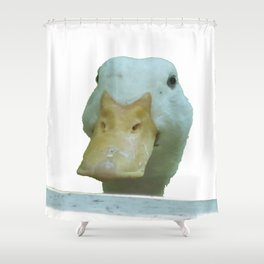 Peeking Duck Vector Shower Curtain