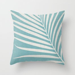 Vintage Palm Frond Throw Pillow