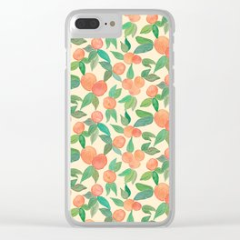 Orange juice Clear iPhone Case