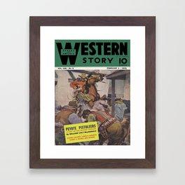 Street & Smith's Western Story - February 1941 Framed Art Print