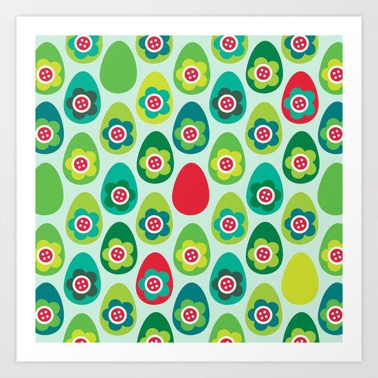 Red Egg Art Print