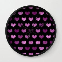 Colorful Cute Hearts VI Wall Clock