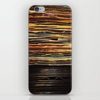 records iPhone & iPod Skins featuring Sunrise Records by Margaux Thibeault