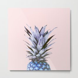 blue pineapple Metal Print