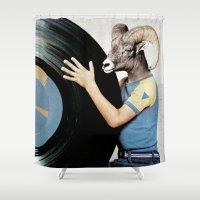 vinyl Shower Curtains featuring Vinyl life by vestart
