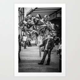 The balloon man II Art Print
