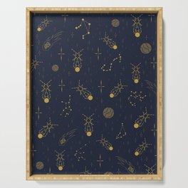 Golden Fireflies Constellations Serving Tray