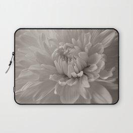 Monochrome chrysanthemum close-up Laptop Sleeve