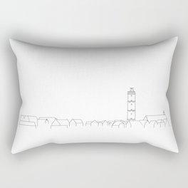 Poster Skyline Terschelling Brandaris - Island Netherlands  Rectangular Pillow