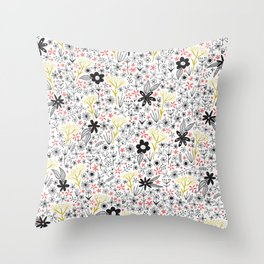 teeny tiny floral pattern Throw Pillow