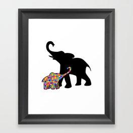 Elephant Autism Awareness Support Framed Art Print