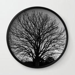 richmond park- b-w Wall Clock