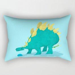 Stegosaurus and his Ball Rectangular Pillow