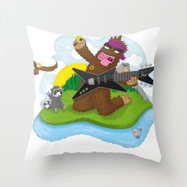 Bigfoot Rocks! Throw Pillow
