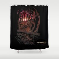 berserk Shower Curtains featuring Children In the Wood by TheMagicWarrior