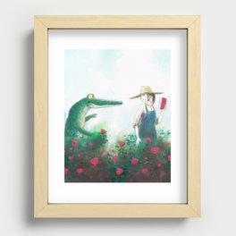 Gardener Recessed Framed Print