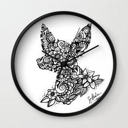 Mandala Dog Mini Wall Clock