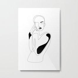Lined pose Metal Print