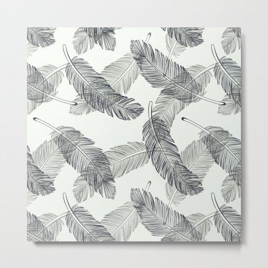 Black Feathers Metal Print