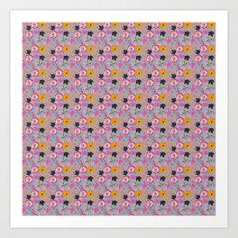 Pattern mix Art Print