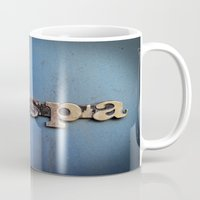 vespa Mugs featuring vespa by rhythmmess