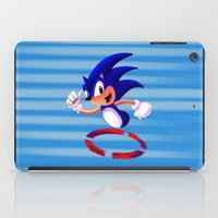 sonic iPad Cases featuring Sonic by DROIDMONKEY