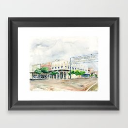 Downtown Brookhaven Framed Art Print