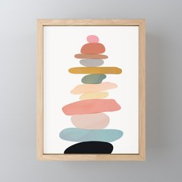 Balancing Stones 22 Framed Mini Art Print