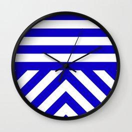 Royal Stripes Wall Clock