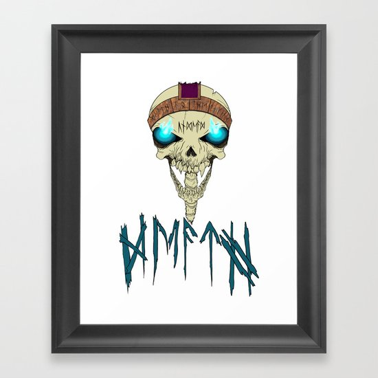 Death To The Living! Framed Art Print