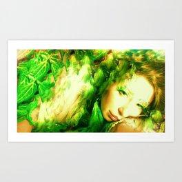 PHOTO OF LADYKASHMIR  SEMI NUDE GODDESS Art Print
