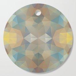 Triangles design in pastel colors Cutting Board