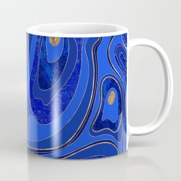Marble Map - blue and gold Coffee Mug