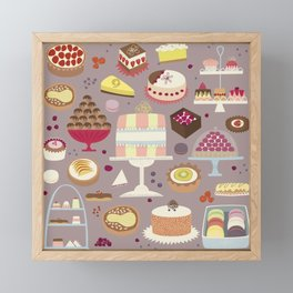 Patisserie Cakes and Good Things Framed Mini Art Print