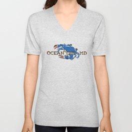 Ocean City Blue Crab Unisex V-Neck