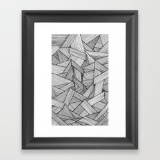 Straight Lines Framed Art Print