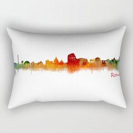 Rome city skyline HQ v02 Rectangular Pillow