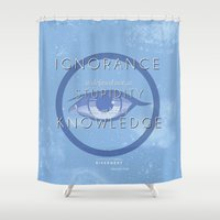 divergent Shower Curtains featuring Erudite Manifesto by Tiffany 10