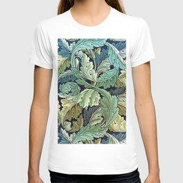 William Morris Herbaceous Italian Laurel Acanthus Textile Floral Leaf Print  T-shirt