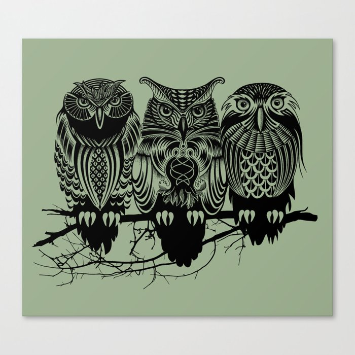 Owls of the Nile Canvas Print