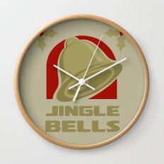 Jingle Bell - Gold Wall Clock