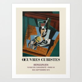 Juan Gris. Exhibition poster for Berggruen Galerie in Paris, 1973. Art Print