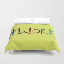 work - afro chicas - green Duvet Cover