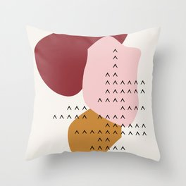 Big Shapes / Mountains Throw Pillow
