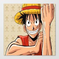 one piece Canvas Prints featuring One piece by Duitk
