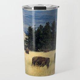 National Parks Bison Herd Travel Mug