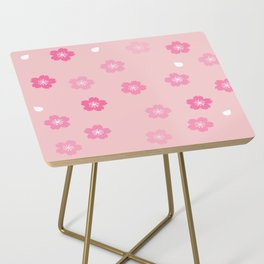 Cheery Cherry Blossom Print Side Table
