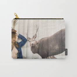 Christmas reigns Triumphant Not only in The mind of a Reindeer Carry-All Pouch