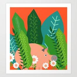 Piglet and sorrel Art Print
