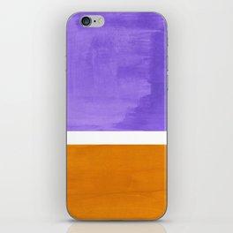 Minimalist Abstract Rothko Mid Century Modern Color Field Lavender Yellow Ochre iPhone Skin
